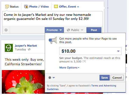 Promova postagem no Facebook 1