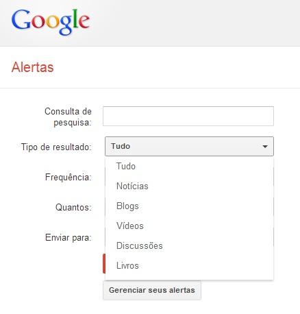 tipo de resultado Google Alerts