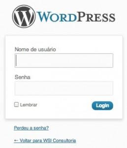 Login Wordpress