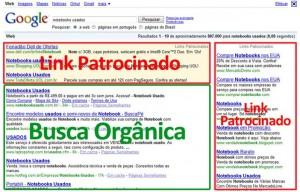 link patrocinado x orgânico