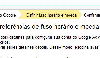 Definir Fuso Horário no Google AdWords