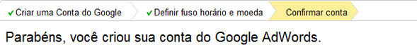 Conta Criada do Google AdWords