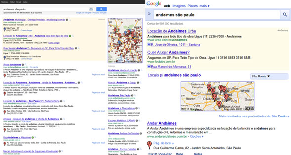 Resultados de Pesquisa Google Mobile e Desktop