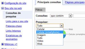 Dados Mobile Google WebMaster Tools